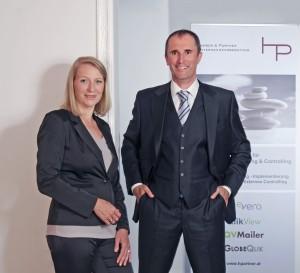 Elfriede Harrer & Andreas Luger, die beiden Gründer von HARRER & PARTNER