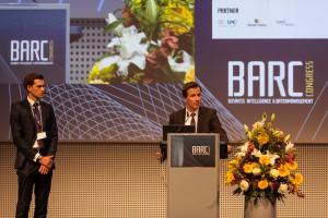 Auf der BARC-Bühne: Matthias Krüger und Frank Wagner von Berenberg © Andreas Bitterer, BARC