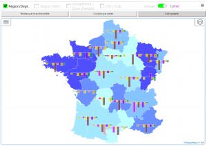 Qlik-Anwendung analysiert und visualisiert Fehlzeiten auf einer interaktiven Karte